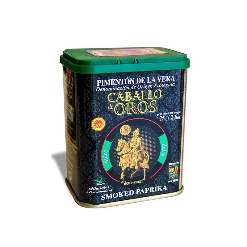 Pimentón de La Vera DULCE 75 g Caballo de Oros