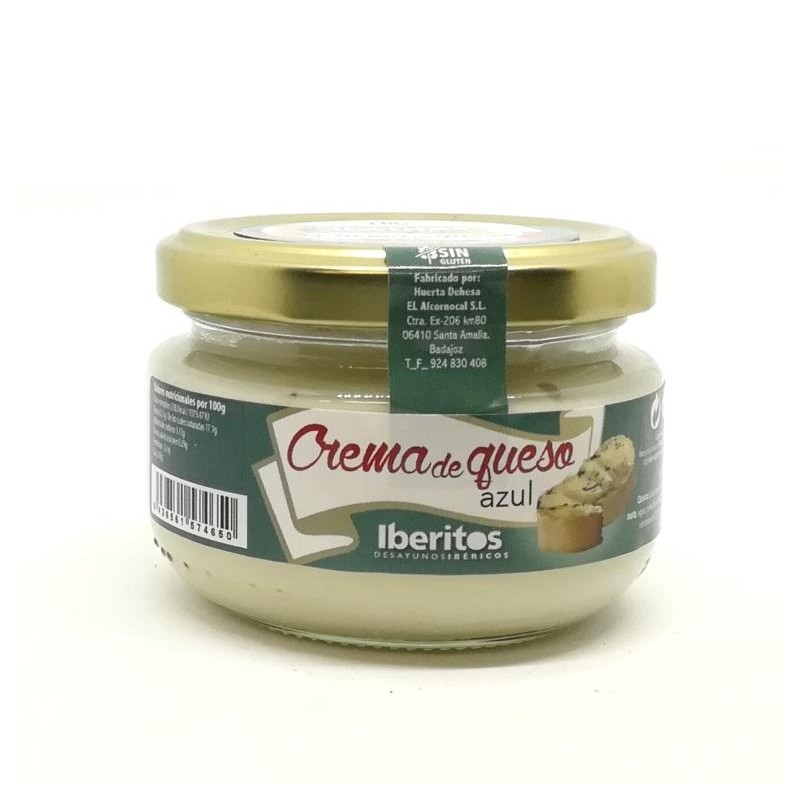 IBERITOS Crema de queso azul. Tarro cristal110 gr