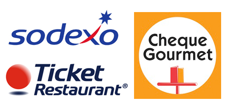 logotipo ticket de comida